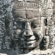 Stone face of angkor wat, cambodia — Stock Photo