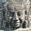 Stone face of angkor wat, cambodia - Stock Photo