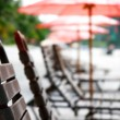 Close up of beach chairs — Stock Photo