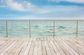 Wooden pier, sea and sky — Stock Photo