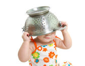 Cooking child over white — Stock Photo