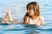 Beautiful girl in water — Stock Photo