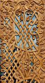 Close up of wooden door — Stock Photo