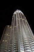 Petronas towers v noci — Stock fotografie