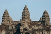 Towers of angkor wat in cambodia — Stock Photo