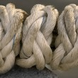 Stock Photo: 3 knots on rope