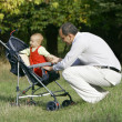 Father and son in park — Stock Photo
