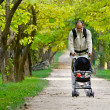 Father with son in park — Stockfoto