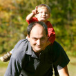 Father and son outdoor portrait — Stock Photo