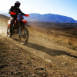 Stock Photo: Moto racer en route