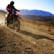 Moto racer en route - Foto Stock