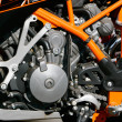 Close up of motorbike engine - Stock Photo