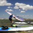 Windsurfer ready to start - Stock Photo
