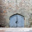 Stock Photo: Closed gates in medieval castle