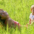 Mother and son outdoor portrait — Stock Photo