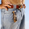 Young man on jeans - Stock Photo