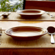 Stock Photo: Tableware served for mealtime