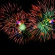 Fireworks on black background — Stock Photo #12617062
