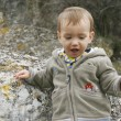 Stock Photo: Baby boy outdoor portrait