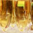 Close up of glasses with champaign — Stock Photo #12618172