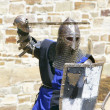 Stock Photo: Attacking knight