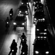 Traffic jam at night - Stockfoto