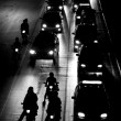 Traffic jam at night — Stock Photo