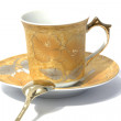 Cup, saucer and spoon — Stock Photo #12618810