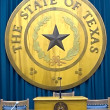 Texas state emblem in capitol - Stock Photo