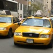 Stock Photo: Yellow cabs in NYC