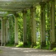 Colonnade in park - Stock Photo