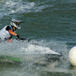 Someone riding a jetski — Stock Photo
