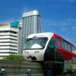 Stock Photo: Monorail in city