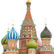 Stock Photo: St basil cathedral over white, moscow, russia