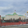 Moscow kremlin and government building — Stock Photo