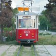Close up of an old tram — Stock Photo