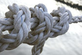 Three knots on a rope — Stock Photo
