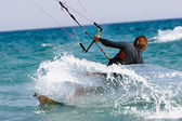 Close up of kitesurfer — Stock Photo