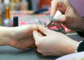 Manicure in beauty salon — Stock Photo