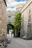 Narrow street of medieval castle — Stock Photo