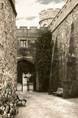Narrow street of medieval castle — Stockfoto