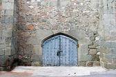 Closed gates in medieval castle — Stock Photo