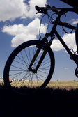 Silhouette of bicycle — Stock Photo