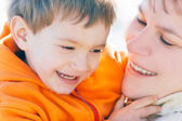 Mother and son portrait — Stock Photo