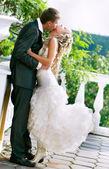 Loving couple on their wedding day — Stock Photo