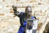 Attacking knight — Stock Photo