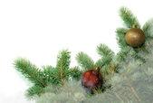 árbol de navidad decorado en blanco — Foto de Stock
