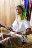 Padaung Tribe Lady, Loikaw, Myanmar (Burma) — Stock Photo