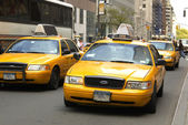 Yellow cabs in NYC — Stock Photo