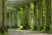 Colonnade in park — Stock Photo